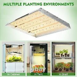 2PCS Mars Hydro TS 2000W Dimmable LED Grow Lights Full Spectrum for Indoor Plant