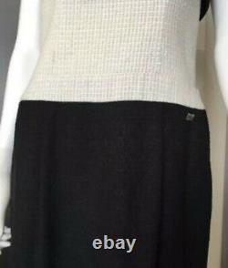 $3,200 NEW CHANEL 09A BOW Celeb Tweed 38 40 42 6 8 10 DRESS White Suit 2009 Top