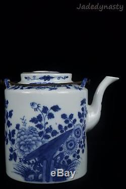 A Chinese Beautiful Blue and White Porcelain Flower Teapot