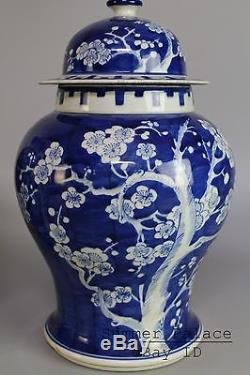 A Pair Chinese Beautiful Blue and white Porcelain Plum flower Vases