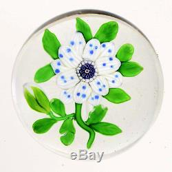 Antique BACCARAT Blue/White Wheat Flower