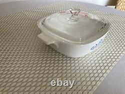 Blue Corn Flower Corning Ware P-1-b 1 Qt. Made In U. S. A For Range & Microwave