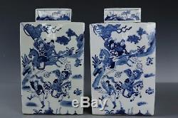 Fine Beautiful China A pair Blue and white flowers porcelain Tea pot