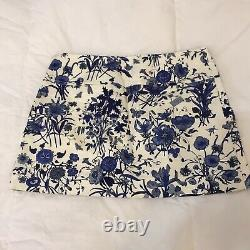 GUCCI Blue White Floral Mini Skirt from 2007 Resort Campaign IT 38 US 2 4 UK 6 S