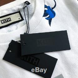 Kith Nyc Floral Box Logo Tee Blue Summer Collection Brand New Flowers White