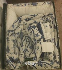 Laura Ashley Elise Blue & White 7 Pc Full/Queen Complete Bed Set NWT