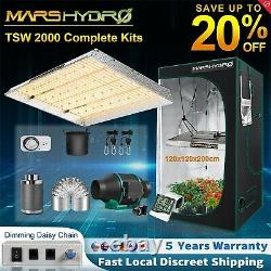 Mars Hydro TS 2000W LED Grow Light 4'x4' Indoor Tent Carbon Filter Complete Kits
