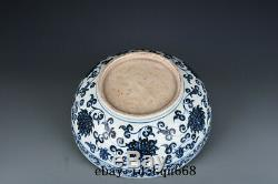 Ming Yongle mark China antique Porcelain Blue & white flowers and fruits Bowl