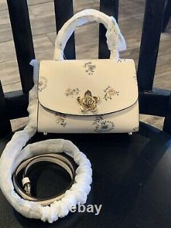 NWT (Coach Micro) Tilly Top handle Mini Crossbody Floral Dandelion Leather