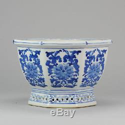 Nice Blue White Chinese Porcelain Planter flowers & Blue White China