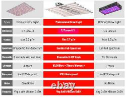 PHLIZON 480W 6bars LED Grow Lights Samsung+660nm for Commercial Horticulture