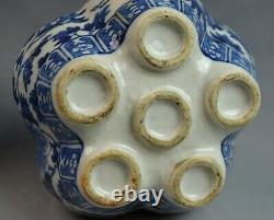 Pair of Chinese Blue and White Six-hole Porcelain Flower Pot
