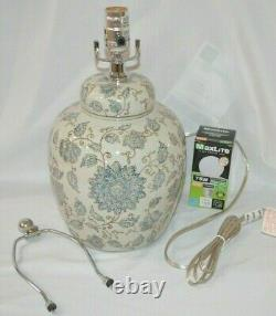 Pottery Barn Langley 18 Ceramic Bedside Table Lamp Blue Jamie Young NO SHADE