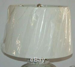 Pottery Barn Langley 18 Ceramic Bedside Table Lamp & Shade Blue Jamie Young