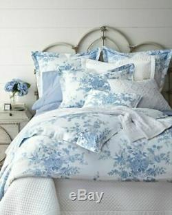 Ralph Lauren Archival Collection Dauphine Blue & White Floral King Comforter