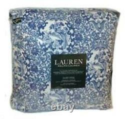 Ralph Lauren Chinoserie Tamarind Blue And White Floral 3 Pc Queen Comforter Set
