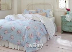 SIMPLY SHABBY CHIC Blue Bella Floral KING Comforter ONLY Blue White. NO SHAMS