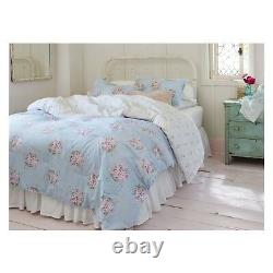Simply Shabby Chic BELLA Blue White Pink Rose Floral Comforter Set King