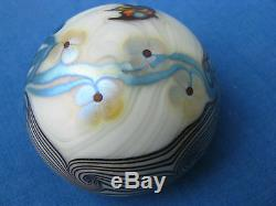 Vtg ORIENT AND FLUME ANGEL FISH PAPERWEIGHT Aqua Blue/White, 2 7/8,1976, w. Box